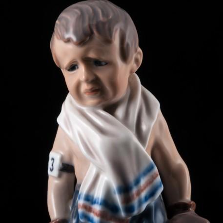 """Фарфоровая статуэтка """"13 номер"""", мальчик-боксер, Dahl Jensen, Дания."""