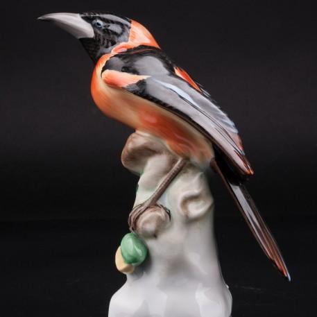 Фигурка птицы Странствующий дрозд, Herend, Венгрия.