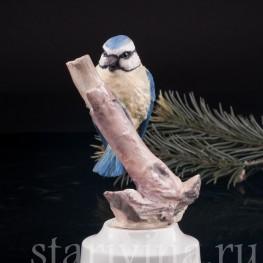 Статуэтка птицы из фарфора Лазоревка, Англия,, вт. пол. 20 в.