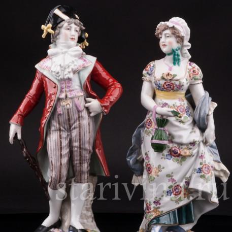 Фарфорвая статуэтка Галантная пара, Германия, кон. 19 в.