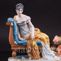 Композиция из фарфора Мадам Рекамье, Dressel, Kister & Cie, Германия, нач. 20 века.