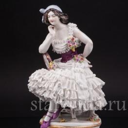 Фарфоровая статуэтка балерины Анна Павлова в роли Китри, Volkstedt, Германия, до 1935 г.