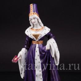Фарфоровая статуэтка Дама в готическом платье Dressel, Kister & Cie, Германия, нач. 20 в.