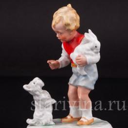 Статуэтка из мальчика фарфора Новый друг, Arno Fischer, Германия, 1926-52 гг.