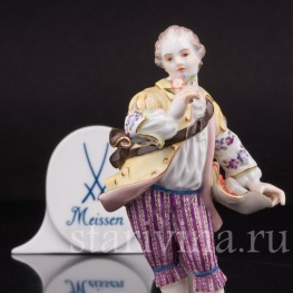 Фигурка из фарфора Юноша с букетом, Meissen, Германия, сер. 20 в.