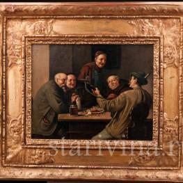 Жанровая картина Мужчины в трактире, , вт. пол. 19 в.