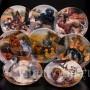 Декоративная фарфоровая тарелка Свидание у поилки, Seltmann Weiden, Германия, 1991 г.