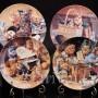 Декоративная фарфоровая тарелка Забавы у печки, Швеция, 1992 г.
