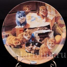 Декоративная тарелка Мамины покупки, Швеция,, 1992 г.
